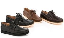Franco Vanucci Brian-15 Men's Boat Shoes - Tan - Size: 10