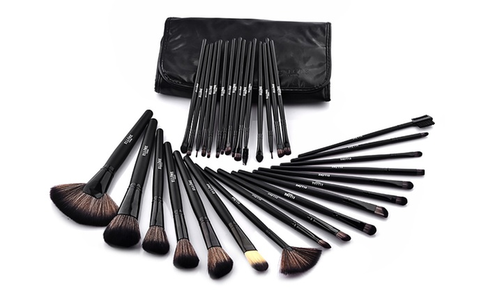 Ellore Femme Professional Makeup Brush Set 32 Piece Black
