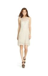 Ralph Lauren Polo Beaded Tulle Sleeveless Dress - Cream White - Size: 12
