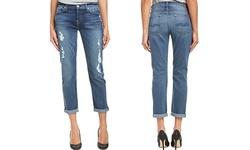 7 For All Women's Mankind Josefina Skinny Boyfriend Jeans - Blue - Size:30