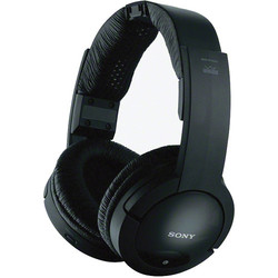 Sony Wireless Radio Frequency Over-The-Head Stereo Headphones - Black