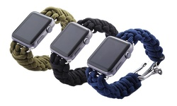 iPM 42mm Weave Band w/ Stainless Steel Clasp for Apple Watch - Dark Blue