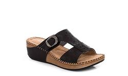 Lady Godiva Women's Comfort Wedge Sandals - Black - Size: 9