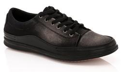Franco Vanucci Men's Grec-1 Lace-up Sneakers - Black - Size: 9.5