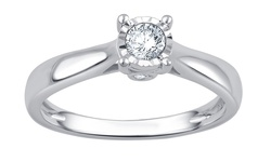 0.25 Cttw Certified Diamond Solitaire Ring In 14k White Gold: 6