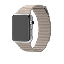 Waloo Leather Loop Band for Apple Watch - Stone - Size: 38mm