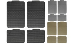FH Anti-slip All Weather Checkered Car Floor Mats 4 Pack - Gray