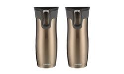 Contigo West Loop Stainless Steel Travel Mugs - Latte - Set of 2