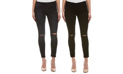 Joe's Jeans Women's Finn Destruction Skinny Ankle Jeans - Black - Size: 27