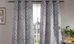 "Duck River Textile Heavy Woven Grommet Window - Grey - Size: 76""x84"""