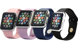 Silicone Sport Apple Watch Replacement Band - Vintage Rose - Size: 42mm