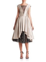 214bee81025 ABS Women s Satin   Lace Cocktail Dress - Oyster - Size  10 - Check ...