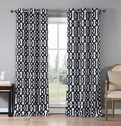 Duck River Textile Blackout Ashmont Grommet Window Panel Pair - Black