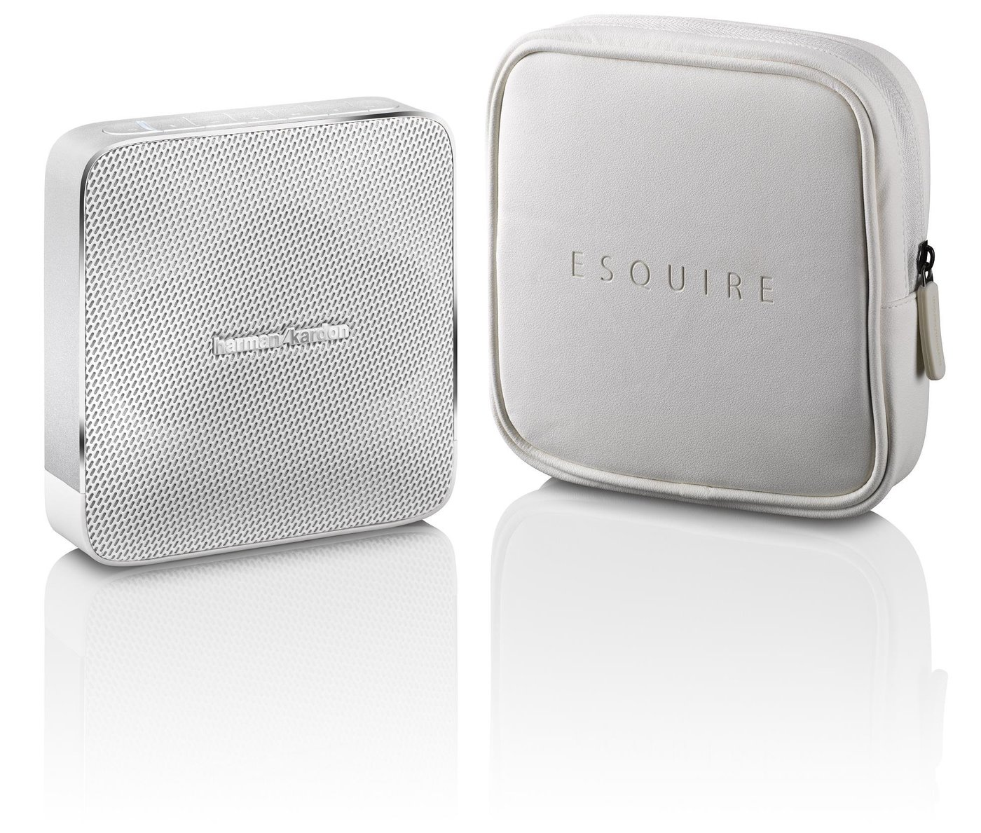 harman kardon esquire wireless speaker white check. Black Bedroom Furniture Sets. Home Design Ideas