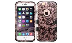 Insten Tuff Four-leaf Clover Hybrid Case for iPhone 6 Plus/6s Plus - Black