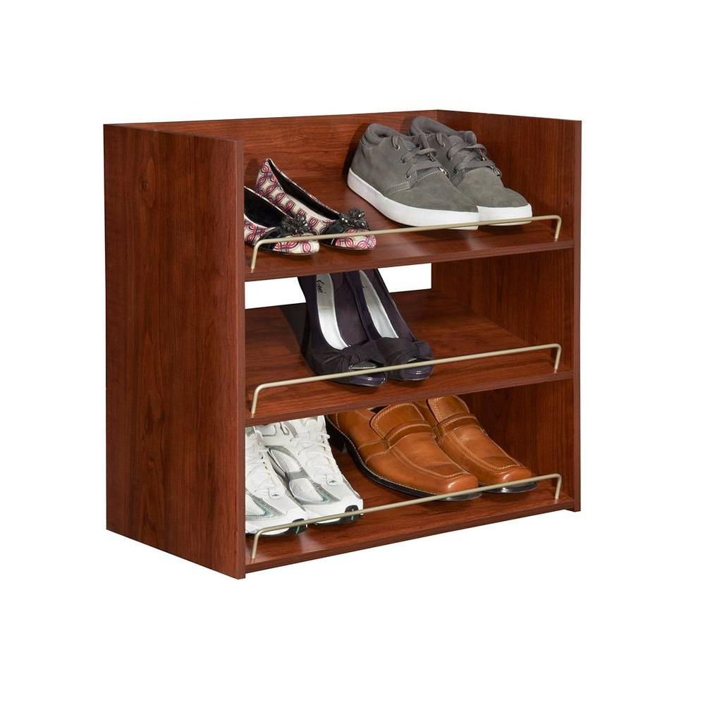 Merveilleux ... ClosetMaid Impressions 3 Shelf Shoe Organizer   Dark Cherry (30900) ...