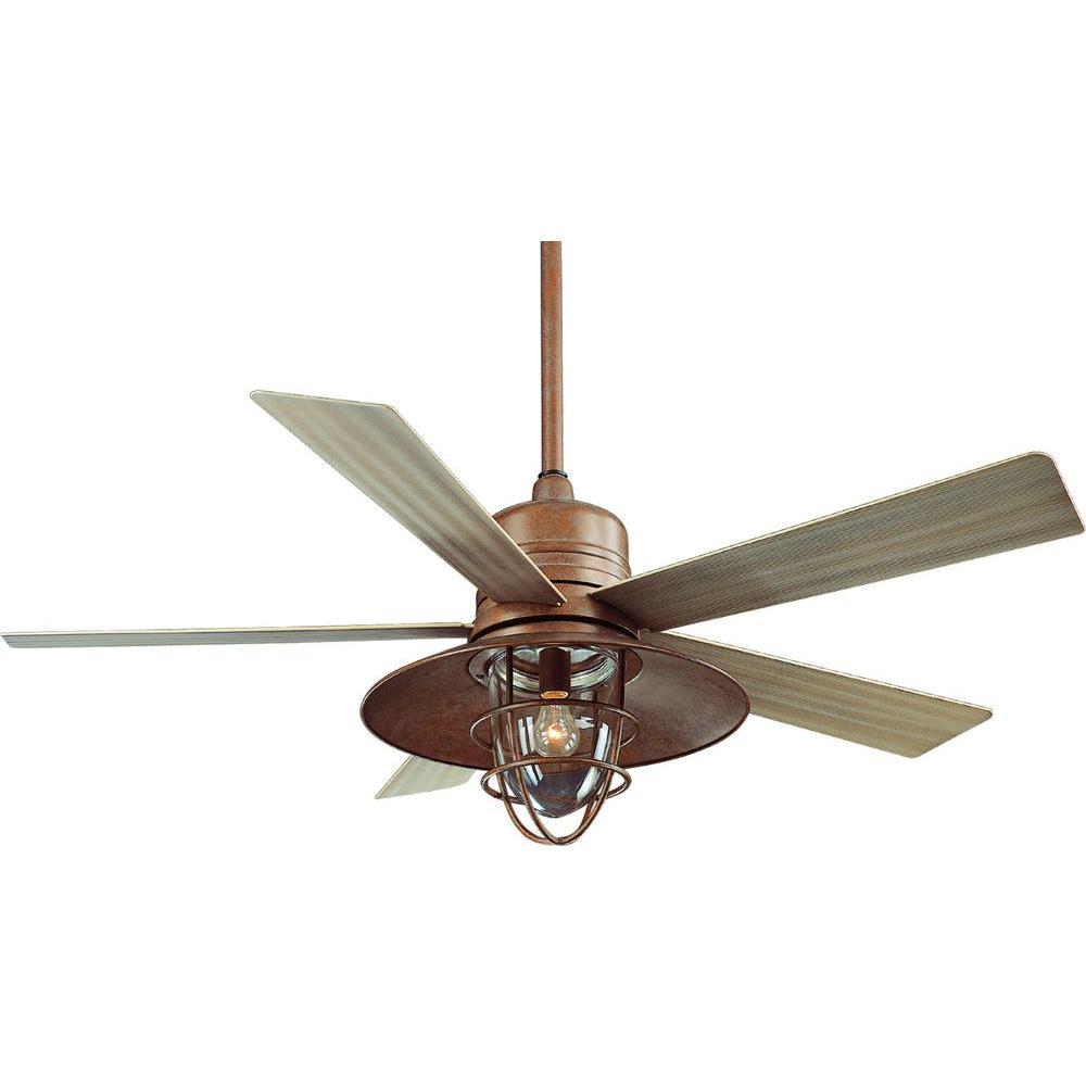 Hampton Bay 34342 Metro 54 in. Rustic Copper Indoor/Outdoor Ceiling ...