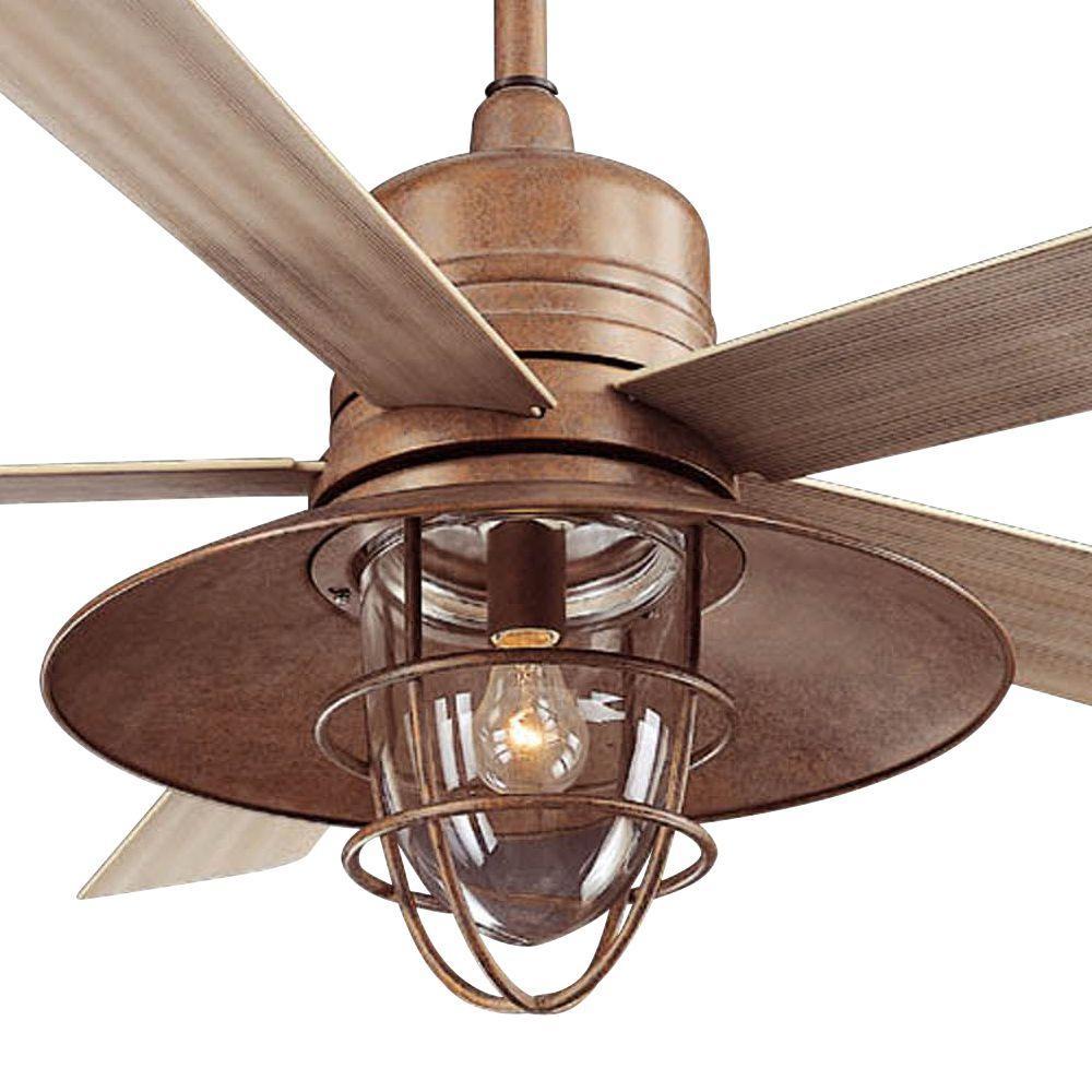 Hampton Bay 34342 Metro 54 In Rustic Copper Indoor Outdoor Ceiling Fan