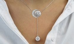 """Swarovski Elements """"to The Moon & Back"""" Y Necklace"""