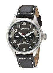 Invicta Watches Men's I-Force Black Genuine Calf-Skin Gunmetal Dial