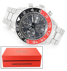 Invicta Swiss Valjoux 7750 Automatic Bracelet Watch - Red - Size: 47mm