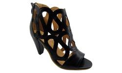 NY VIP Women's 817 High Heel Sandals - Black - Size: 8.5