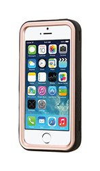 Insten Tuff Hybrid Case For Apple iPhone 5 5S Rose Gold Black