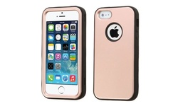 Insten Tuff Hybrid Case For Apple iPhone 5 5S Rose Gold Black
