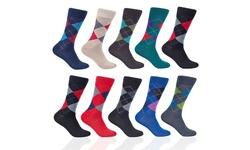 Florsheim Men's Argyle Dress Socks - Assorted Colors - Size: 6-13 - 10Pair