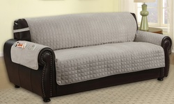 Pet Protector With Side Pocket: Loveseat/gray