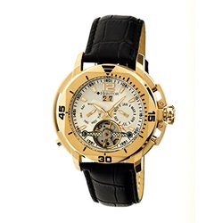 Heritor Automatic Men's Watch: Lennon/HR2803-White Dial/Gold Trim