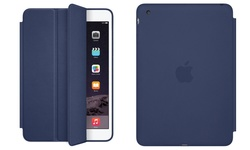 Apple iPad Mini 3 Front Back Smart Case Leather Soft Lining - Blue
