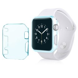 Insten Apple Watch 38mm Crystal Hard Snap-in Case Cover - Clear