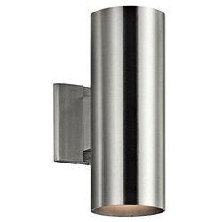 "Kichler 92BA Indoor/Outdoor Wall Light - Brushed Aluminum - Size: 12"""