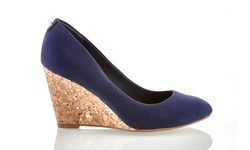 Sociology Women's Closed Toe Wedge Pumps - Navy - Size: 8.5
