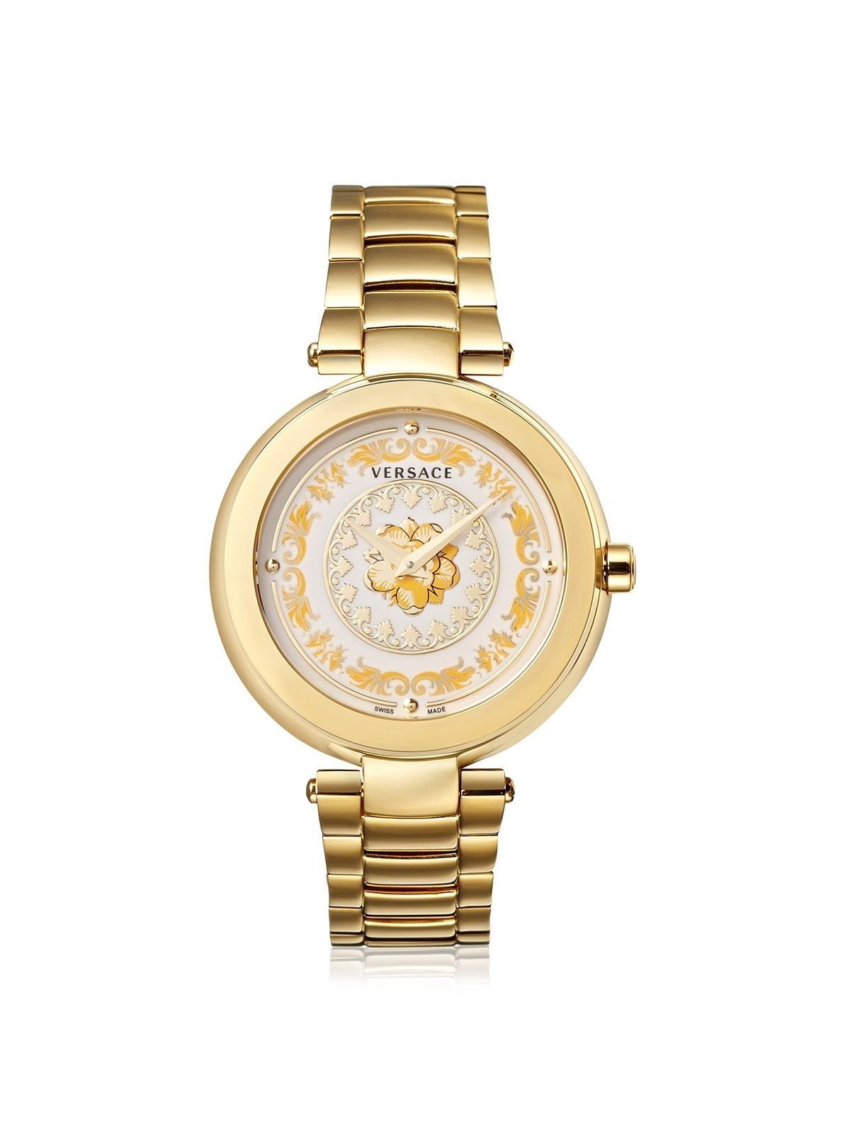 485ba2254fc Versace Women s Mystique Foulard Diamonds Steel Watch Versace Women s Mystique  Foulard Diamonds Steel Watch ...