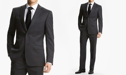 Fiorelli Men's 2-Piece Suit - Charcoal - Size: 40Sx34W