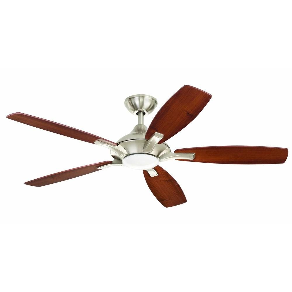 Charming LED Ceiling Fan   Brushed Nickel(14425) ...
