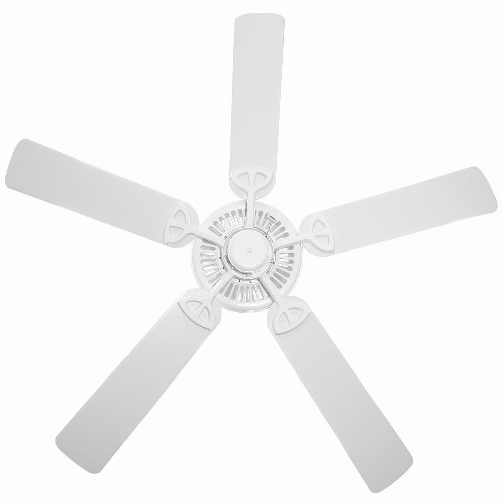 Hampton Bay B552QI-WH Farmington 52 in. Indoor Ceiling Fan - White ...