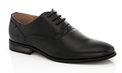Franco Vanucci Men's Lace-Up Andrew Dress Shoes - Black - Size: 9.5