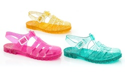 Rasolli Women's Judy-1 Jelly Flat Fisherman Sandal - Smoke - Size: 11