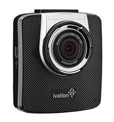 Ivation 1296p HDR Dashcam Recorder & Car Camera - Black (IV-DCMSG191B)