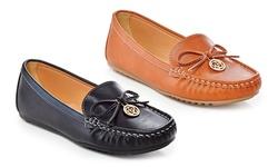 Jill Ladies' Fashion Loafers - Tan - Size: 10