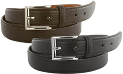 Men's Genuine Leather Dress Belts: 38-40 (2-pack)
