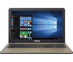 "ASUS 15.6"" Laptop 1.6GHz 4GB 500GB Windows 10 - Chocolate (R540SA-RS01)"