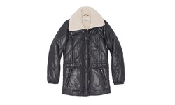 Kenneth Cole Women's Faux Sherpa Lined Jacket - Black - Size: Small
