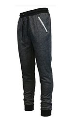 Galaxy By Harvic Men's French Terry Jogger Pants - Black - Size: Large