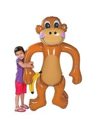"Fun Express Jumbo Inflatable Monkey - Approx. 61"" Tall"
