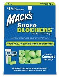 Mack's Snore Blockers Soft Foam Earplugs 12 pair