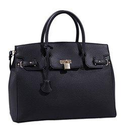 Satchel Handbag Claire Lock - Black